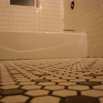 Check it out, we have grout!