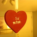Valentine ornaments from polymer clay
