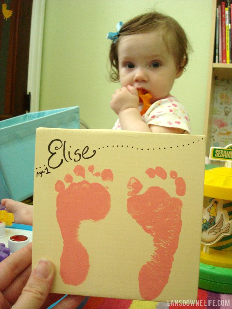 Baby footprints keepsake painting - Lansdowne Life