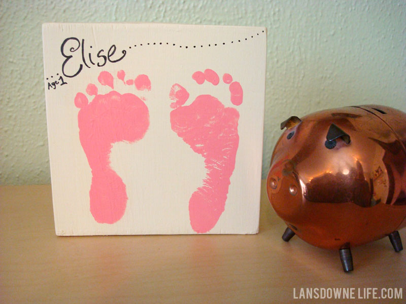 Baby Footprints Keepsake Painting Lansdowne Life