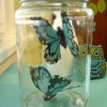 Upcycled butterfly jar