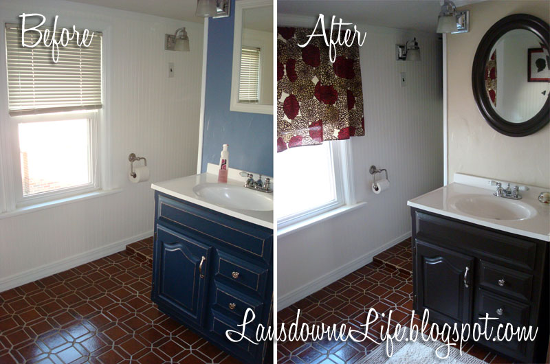 Economical Bathroom Makeovers $100 bathroom challenge: done and under budget! - lansdowne life