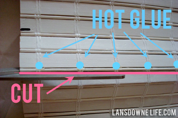 how to cut blinds that are too long