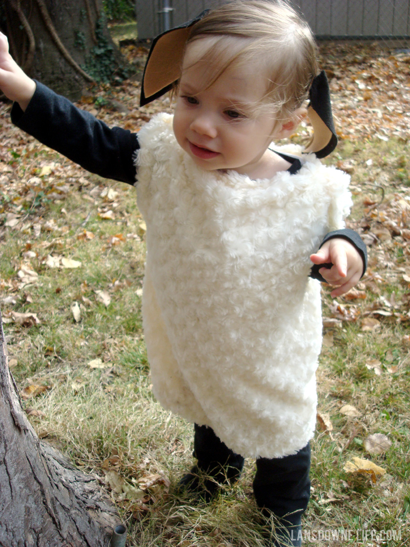 DIY sheep costume  sc 1 st  Lansdowne Life : lamb costumes for adults  - Germanpascual.Com