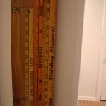 Vintage yard stick growth chart