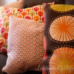 Colorful couch pillows for the playroom