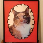 Back-painted glass picture frame