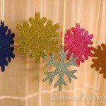 Glittery snowflake ornaments
