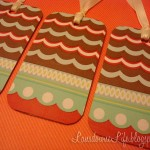 Upcycled gift topper tags made from countertop samples