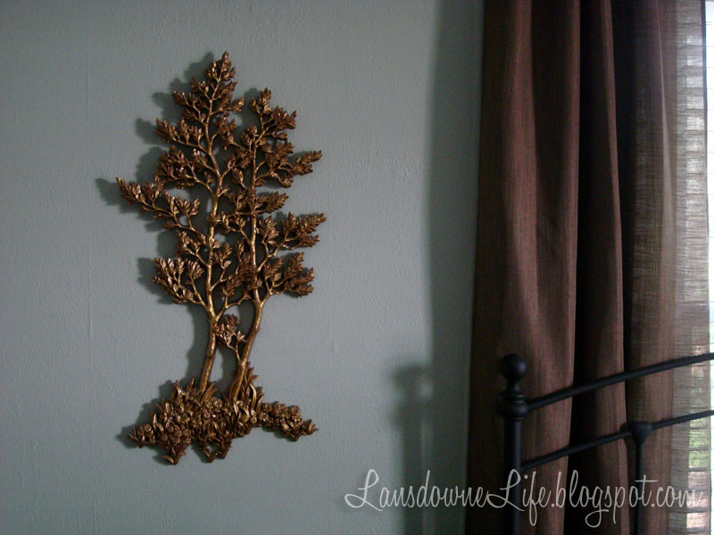 Gold tree wall decor