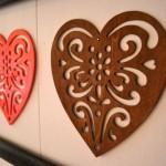 Heart cutout wall art