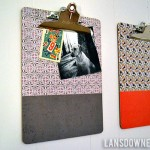 Playroom clipboards for displaying artwork