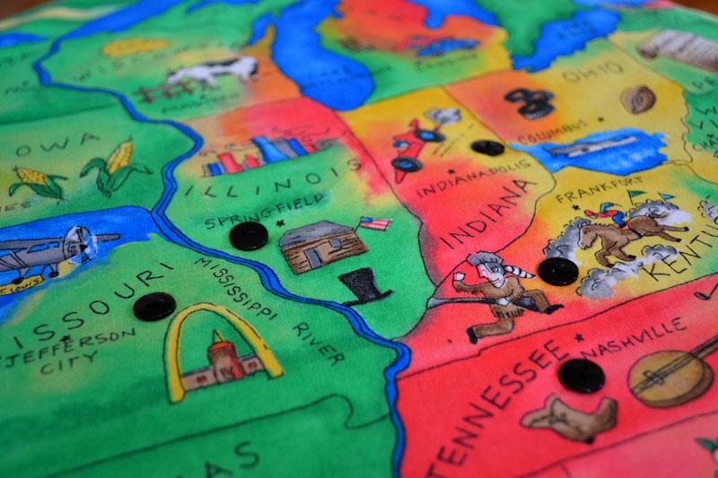Kids USA map blanket Lansdowne Life – Map Usa Games for Kids