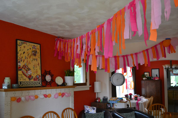 Numbers birthday party the decorations lansdowne life - Birthday decorations with crepe paper ...