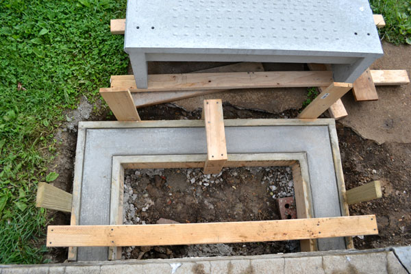 Pouring A Concrete Footing For Porch Stairs