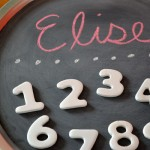 Numbers birthday party chalkboard favors