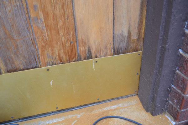 Repainting Brass Patina On Door Kickplate