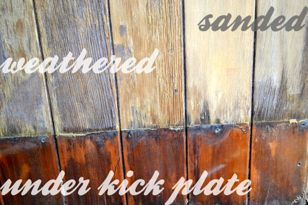 entry door kick plates. weathered wood front door entry kick plates
