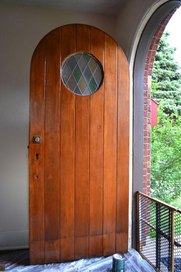 Refinishing my 81 year old front door lansdowne life - Exterior polyurethane wood finish ...