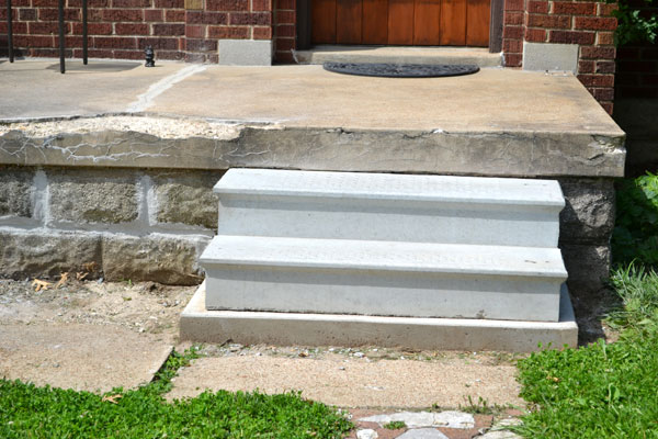 Crumbling concrete porch repaired lansdowne life repairing our crumbling concrete porch solutioingenieria Gallery