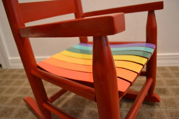 Kids Rainbow Rocking Chair