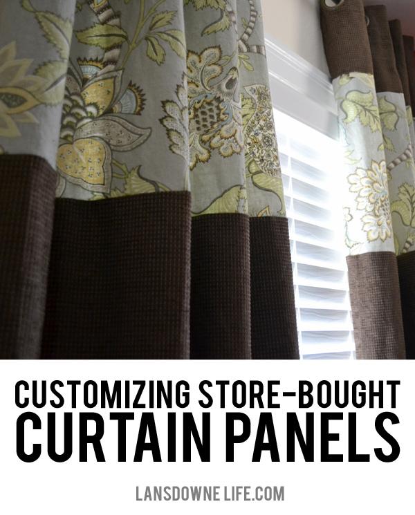 customizing and lengthening storebought curtain panels