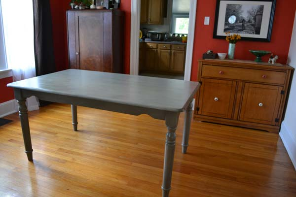 Dining Table Painted Gray Part 50
