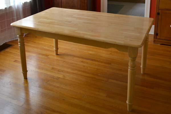 Refinishing our plain jane dining table Lansdowne Life