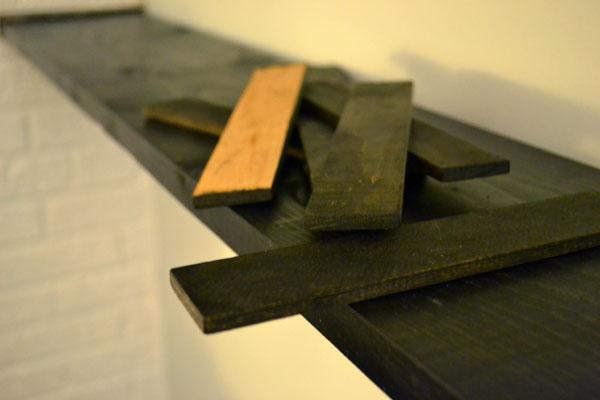 Using filler strips below shelves