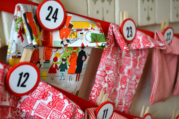 DIY Fabric advent calendar bags