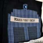 Geeky tote bag makeover (It's a TARDIS now!)