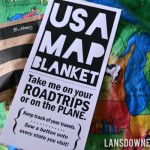 More U.S.A. map blankets + FREE printable tag