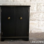 Painted record cabinet