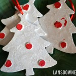 Kid-painted Christmas tree ornaments