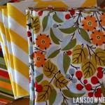 Reusable cloth napkins for everyday use + FREE printable tag