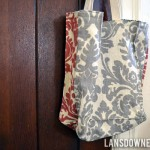 Boxy fabric tote bags