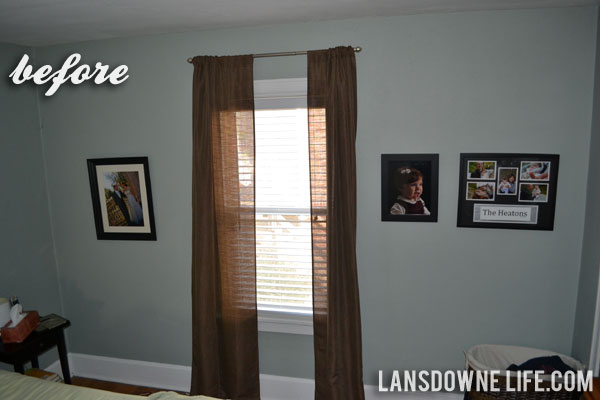 Bedroom Progress Painting An Accent Wall Lansdowne Life