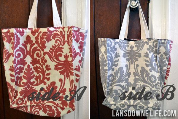 Boxy fabric tote bags - Lansdowne Life