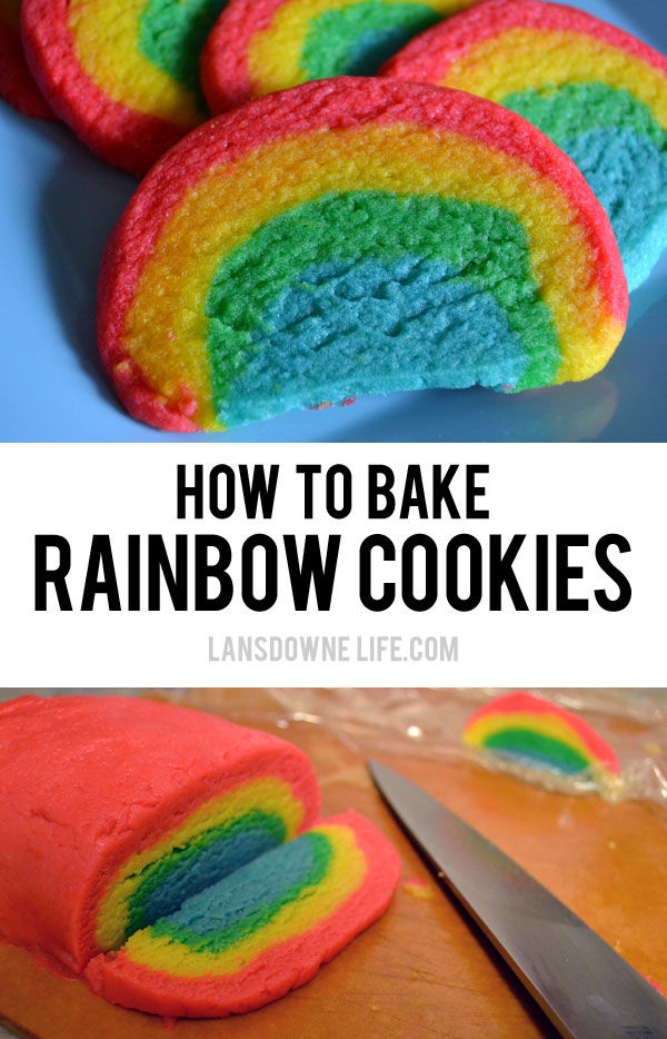 How to bake rainbow cookies