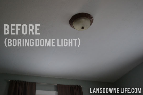 Updated Bedroom Light Fixture