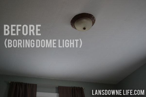 Vintage Industrial: Updated Bedroom Light Fixture
