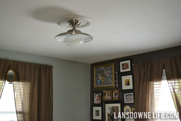 vintage industrial updated bedroom light fixture - Vintage Bedroom Lighting