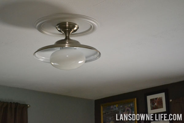 vintage industrial updated bedroom light fixture lansdowne life