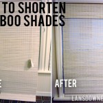 How to shorten woven bamboo shades