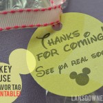 Free Printable Mickey Mouse Party Favor Tag