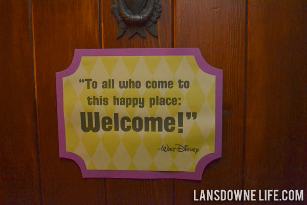 Welcome To The Real World Quotes: Disney World Magic Kingdom Birthday Party: Decorations