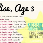 Kids birthday interview questionnaire: FREE printable form!