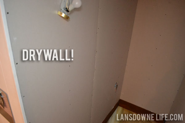 Gypsum Sheetrock Over Plaster : Stairway update drywall and ugly plaster lansdowne life