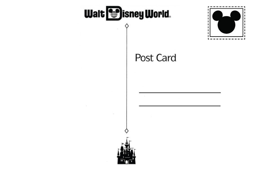 FREE printable: Disney World postcard party invitation