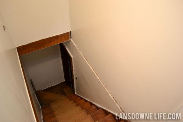 Stairway update: Painting the walls - Lansdowne Life